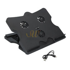 USB Port HUB Mat Adjustable 3 Fan Folding Laptop Cooling Cooler Stand Tray Pad