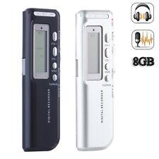 1Pcs 8GB Digital Audio DICTAPHONE DIGITAL VOICE RECORDER PHONE RECORD MP3 Player