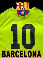 LIMITED FC BARCELONA FUTBOL JERSEY 10 MESSI BARCA SOCCER SHIRT VOLT BLACK SMALL