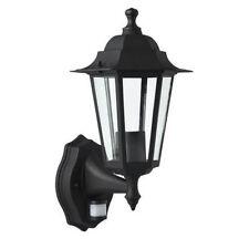 PowerMaster 6 seitige schwarze Laternen - Lampe mit PIR Bewegungsmelder (s5902)