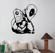 Deadpool Wall Sticker Comics Superhero Vinyl Decal Art Kids Boys Room Decor dpl6
