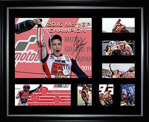 Marc Marquez 2016 MotoGP Champion Framed Memorabilia