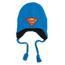 DC Comics Superman Logo Blue Laplander Beanie Hat