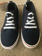 Nwt Gymboree Blue Red Canvas Shoes Boy 10