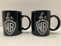 Vintage 1991 Warner Brothers Studio Bugs Bunny Black Coffee Mug - Set of 2 Cups