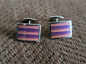 Mens cufflinks Gifts for men and women Art deco Cufflinks made from Vintage Tins Mens birthday gift. Womens cufflinks