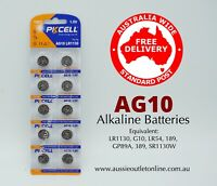 PK CELL Quality AG10 Alkaline Batteries 1.5 V 10 pieces - Aussie Outlet Online