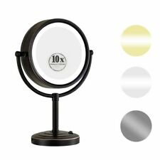 "GURUN 8.5"" 10X Magnifying Lighted Table Makeup MIrror with 50 Led Light Bronze"