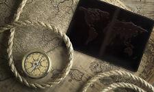 "Premium leather passport cover case "" World Map 3D Print"" 133*192 mm."