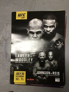 """Official UFC 201 Lawler vs Woodley Poster 18"""" x24"""""""