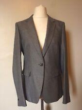 NEXT Tailoring Womens Herringbone Wool Jacket Size 14 Uk BNWT RRP £53.99 Grey