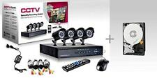 KIT VIDEOSORVEGLIANZA h264 CCTV 4 CANALI TELECAMERA INFRAROSSI + HD 500 GB