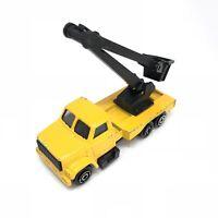 MAJORETTE Camion chantier grue jaune n°283 Ech. 1/100 (2)