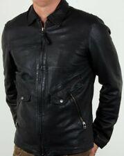 50PRETTY GREEN JENNETTS LEATHER JACKET BLACK Size XS RRP £350 BNWT