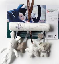 Hanging Plush Rabbit Hand Bell Baby Rattle For Crib Stroller Baby Toys Supplies