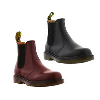 Dr Martens 2976 Mens Womens Black Red Leather Dealer Chelsea Boots Size 4-13