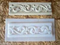 Plaster cement resin Roman border trim tile set of 2 poly plastic molds