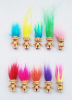 "10Pcs/lot Random vintage trolls Lucky Doll Mini Figures Toy 1"" cake toppers"