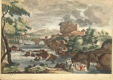 Gravure XVIIe, Sebastien Bourdon, Baudet, Etching Radierung Incisione 17th.