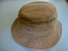 Stetson Brown Khaki 100% Cotton Bucket Hat Size 6 3/4-6 7/8 Cool Hat