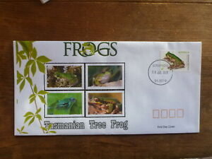 2018 FROGS TASMANIAN TREE FROG ILLUSTRATED FDC FIRST DAY COVER