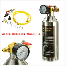 Car A/C System Flush Canister Air Conditioning Pipe Clean Tool Set R134a R12 R22
