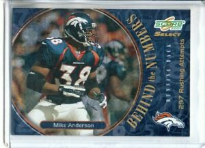 2001 SCORE SELECT MIKE ANDERSON BEHIND THE NUMBERS #rd 297