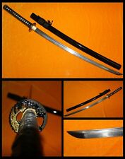 JAPANEASE SAMURAI SWORD CLAY TEMPERED FOLDED STEEL RAZOR SHARP BLADE FULL TANG