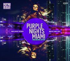 PURPLE NIGHTS MIAMI (JAMIE LEWIS, DJ ROLAND CLARK, DJN PROJECT,...) 2 CD NEU