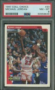 1997 Collector's Choice #23 Michael Jordan Chicago Bulls HOF PSA 8 NM-MT
