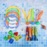 19pcs Swimming Pool Throwing Diving Toys Underwater Rings Diving Circle Se FT