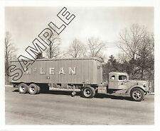 McLEAN TRUCKING MACK TRUCK EQ DIESEL & TRAILER 8x10 B&W Photo, Winston-Salem, NC