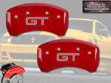 "2011-2012 Ford Mustang Shelby GT350 Rear Red MGP Brake Disc Caliper Covers ""GT"""