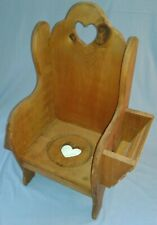 Amish Built Potty Training Chair w/ Magazine / Book Rack & Toilet Paper Holder