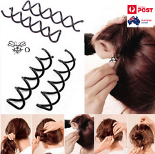Hair Pin Spiral Screw Twist Ponytail Bun Firm Hold Maker X 2