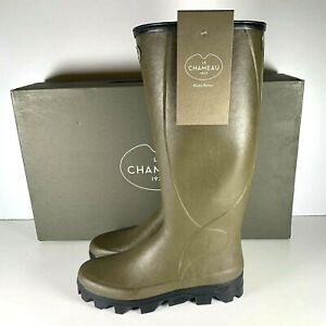 Le Chameau BTE Ceres Jersey Men's Vert Chameau Lined Wellington Boot Size UK 9