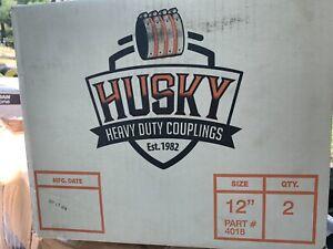 "NEW HUSKY SD 4000HEAVY DUTY 12"" NO HUB COUPLINGS # 4018 CASE OF 2 COUPLINGS"