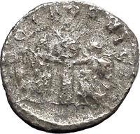 VALERIAN I 255AD   Samosata mint Silver Ancient Roman Coin Victory Nike i46896