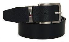Cintura uomo pelle belt TOMMY HILFIGER art. AM0AM01303 taglia 115 col. 902 NERO