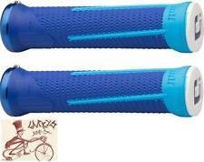 ODI AG1 LOCK-ON BLUE BMX-MTB BICYCLE GRIPS