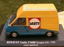RENAULT TRAFIC T1100 FOURGON TOLE SURELEVE 1989 DARTY 1/43 UNIVERSAL HOBBIES
