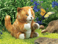ORANGE TABBY KITTEN Puppet ~ Folkmanis Puppets