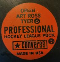 1974-75 WHA MINNESOTA FIGHTING SAINTS OFFICIAL GAME PUCK ART ROSS CONVERSE USA