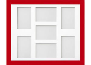 Frame Company Candy Red Multi Aperture Collage Picture Photo frame & Mount