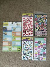 *NEW* Children Themed Sticker Sheets (Minions,Sassy Girl,Hearts,Owl,Dolphins)
