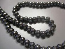 70 St Hämatit Perlen 6mm nicht magnetisch Schwarz Blutstein von Bastelconcepte