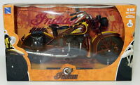 NEW RAY 42113 INDIAN CHIEF diecast model motorbike brown / yellow 1:12th scale