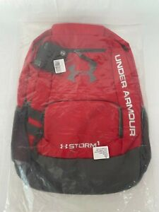 Brand New Sealed in Bag Under Armour Storm Hustle II Red Backpack School Hiking