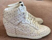 Nike Dunk Sky High Print Sail Gum Black White Sneaker Wedge Size 8 543258-100