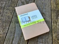 Moleskine Pocket Journal Notebook - 3 Pack Brown Note Plain Field Paper Cahiers